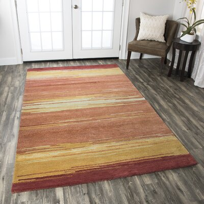 Belem Hand-Tufted Red Area Rug Rug Size: Rectangle 5 x 8