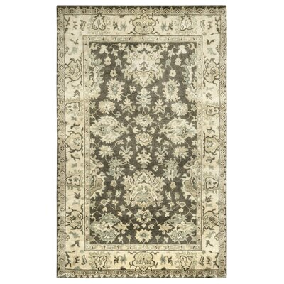 Rojo Hand-Knotted Charcoal/Beige Area Rug Rug Size: Rectangle 3 x 5