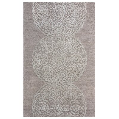 Salvador Hand-Hooked Light Brown/Ivory Area Rug Rug Size: 5 x 8