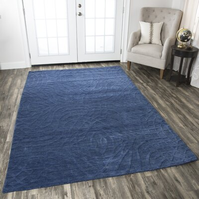 Yawal Hand-Loomed Blue Area Rug Rug Size: Rectangle 10 x 14
