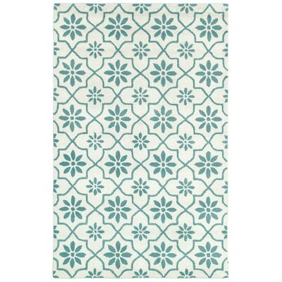 Azov Hand-Tufted Ivory/Green Area Rug Rug Size: Rectangle 8 x 10