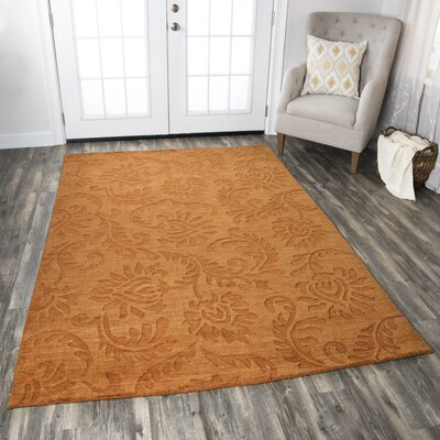 Zaidpur Hand-Loomed Rust Area Rug Rug Size: Rectangle 56 x 86