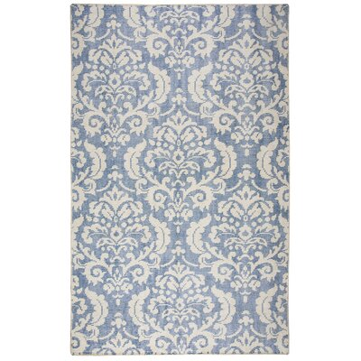 Gulfport Hand-Knotted Blue/Beige Area Rug Rug Size: Rectangle 5 x 8