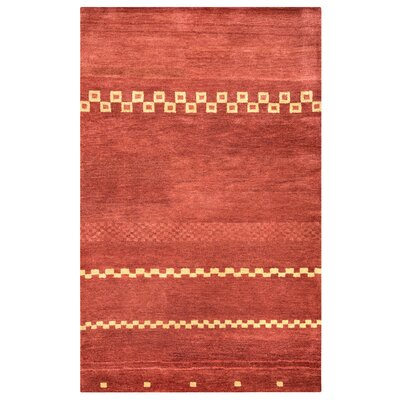 Congo Hand-Tufted Red Area Rug Rug Size: 36 x 56