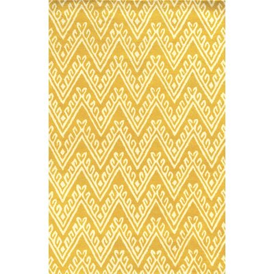 Santo Hand-Tufted Yellow Area Rug Rug Size: Runner 2'6