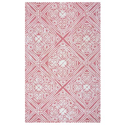 Belfast Hand-Tufted Pink/Ivory Area Rug Rug Size: Rectangle 5 x 8