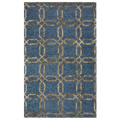 Dunkerque Hand-Tufted Grey/Beige Area Rug Rug Size: Rectangle 8 x 10