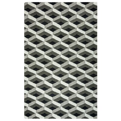 Varna Hand-Tufted Gray Area Rug Rug Size: Rectangle 3 x 5