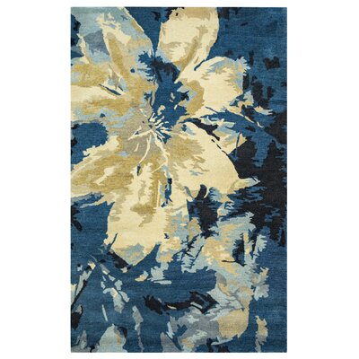 May Hand-Tufted Black Area Rug Rug Size: Rectangle 5 x 8