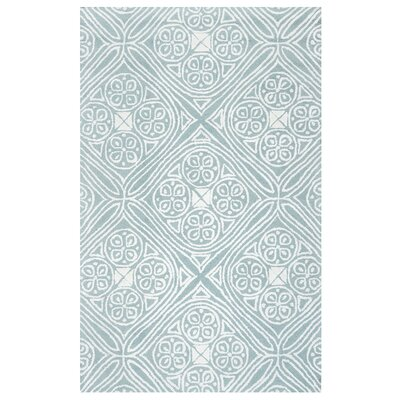 Tauro Hand-Tufted Light Blue Area Rug Rug Size: 5 x 8