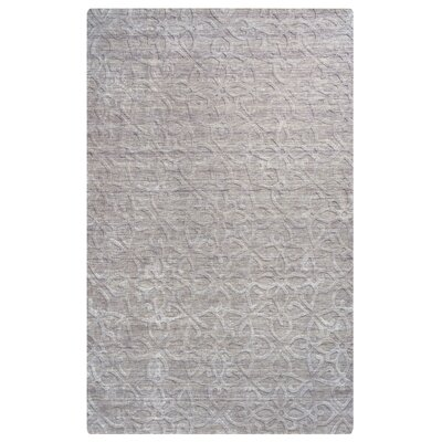 Cameroon Hand-Loomed Light Gray Area Rug Rug Size: Rectangle 56 x 86