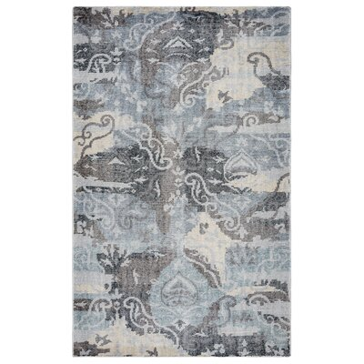 Quebec Hand-Knotted Charcoal Area Rug Rug Size: Rectangle 5 x 8
