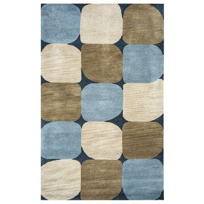 Bari Hand-Tufted Blue Area Rug Rug Size: Runner 26 x 8