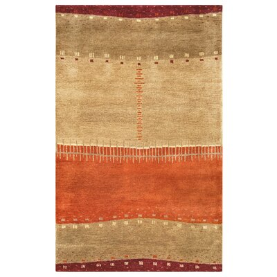 Blanca Hand-Tufted Brown Area Rug Rug Size: 5 x 8