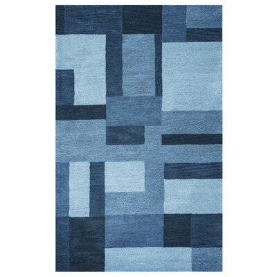 Guinea Hand-Tufted Blue Area Rug Rug Size: Rectangle 8 x 10