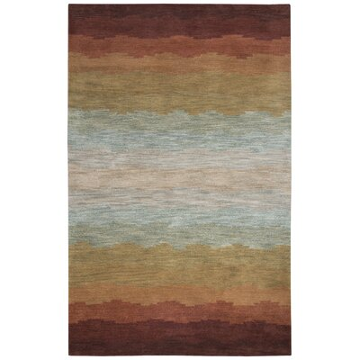 Scotia Hand-Tufted Rust Area Rug Rug Size: Rectangle 5 x 8