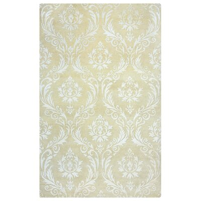 Limon Hand-Knotted Beige/Gray Area Rug Rug Size: Rectangle 36 x 56
