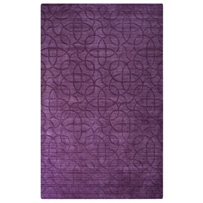 Zira Hand-Loomed Plum Area Rug Rug Size: Rectangle 36 x 56