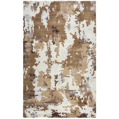 Nassau Hand-Knotted Beige/Brown Arera Rug Rug Size: Rectangle 56 x 86