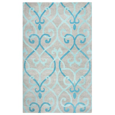 Minnesota Hand-Tufted Blue/Gray Area Rug Rug Size: 9 x 12
