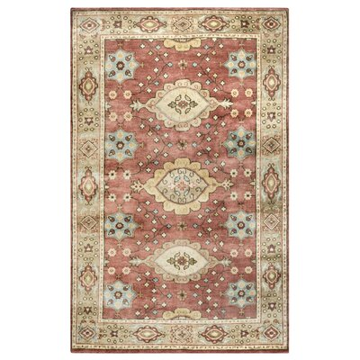 Yalta Hand-Knotted Rust/Light Brown Area Rug Rug Size: 2 x 3