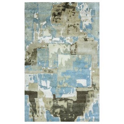 Samsun Hand-Knotted Blue Area Rug Rug Size: Rectangle 56 x 86
