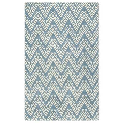 Santander Hand-Tufted Grey/Beige Area Rug Rug Size: Rectangle 5 x 8