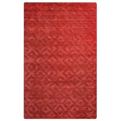Heraklion Hand-Loomed Red Area Rug Rug Size: Rectangle 5 x 8