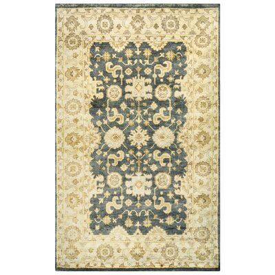 Southampton Hand-Knotted Wool Beige/Gray Area Rug Rug Size: Rectangle 5 x 8