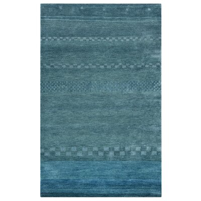 Barranquilla Hand-Tufted Blue Area Rug Rug Size: Rectangle 5 x 8