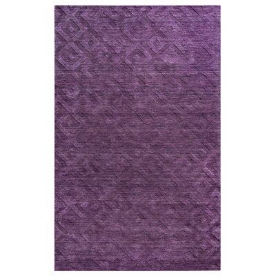 Gijon Hand-Loomed Purple Area Rug Rug Size: 3 x 5