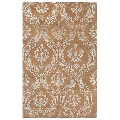 Cabello Hand-Knotted Brown Area Rug Rug Size: Rectangle 36 x 56