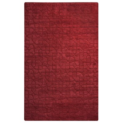 Ghana Hand-Loomed Red Area Rug Rug Size: 56 x 86