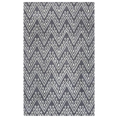 Bilhorod Hand-Tufted Dark Grey Area Rug Rug Size: 5 x 8