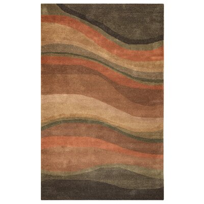 Albania Hand-Tufted Rust Area Rug Rug Size: Rectangle 5 x 3