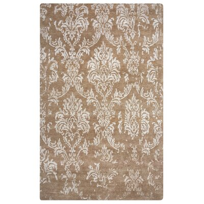 Newhaven Hand-Knotted Tan Area Rug Rug Size: Rectangle 2 x 3