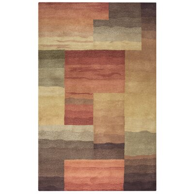 Bar Hand-Tufted Gray Area Rug Rug Size: 5 x 8