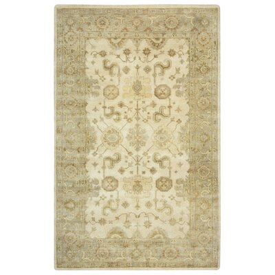 La Guaira Hand-Knotted Beige Area Rug Rug Size: Rectangle 5 x 8