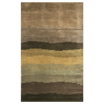 Nova Hand-Tufted Brown Area Rug Rug Size: 5 x 8