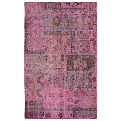 Laoghaire Hand-Knotted Purple Area Rug Rug Size: Rectangle 3 x 5