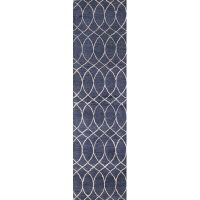 Kheston Hand-Tufted Blue Area Rug Rug Size: Runner 26 x 8