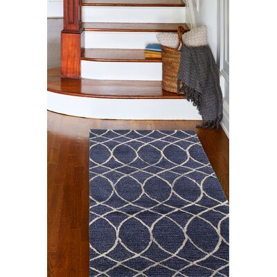 Kheston Hand-Tufted Blue Area Rug Rug Size: Rectangle 56 x 86
