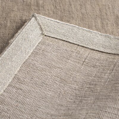 Pattukkottai Hand-Loomed Gray Area Rug Rug Size: Rectangle 9 x 13