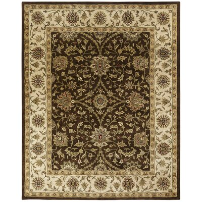 Bhavsar Hand-Woven Brown Area Rug Rug Size: Rectangle 9 x 12