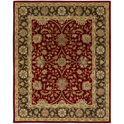 Bir Hand-Woven Red Area Rug Rug Size: Rectangle 96 x 136