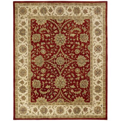 Chaudhary Hand-Woven Red/Beige Area Rug Rug Size: Rectangle 36 x 56