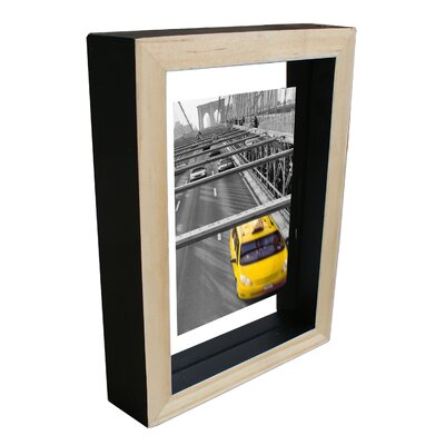 Wood Float Picture Frame Color: Black WF1107BK-68