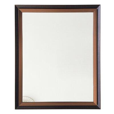 Martinton Framed Wall Mirror Color: Brown