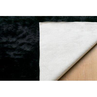 Anvi Faux Fur Black Area Rug Rug Size: Rectangle 3 x 5