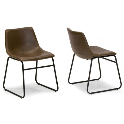 Adan Side Chair Upholstery: Dark Brown
